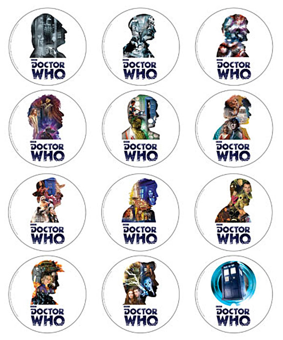 Doctor Who 50th Anniversary Coasters Set Of 12 Merchandise Guide