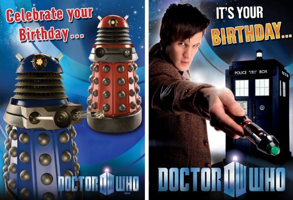 2010 Series Five Birthday Cards Merchandise Guide The Doctor – Doctor Who Birthday Card