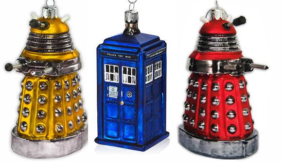 Tardis & Red Gold / Dalek Christmas Decorations ...
