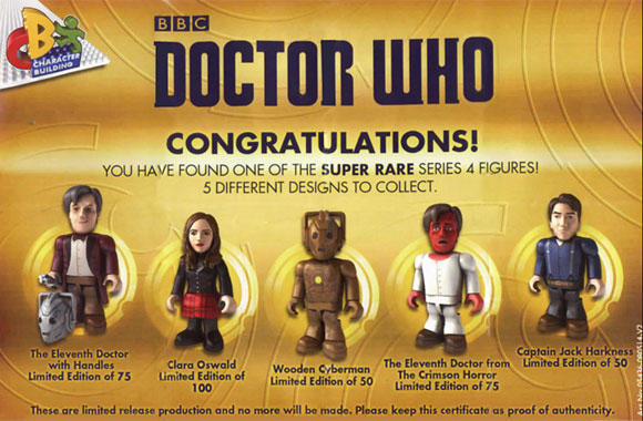 Doctor Who Character Building Series  Super Rare