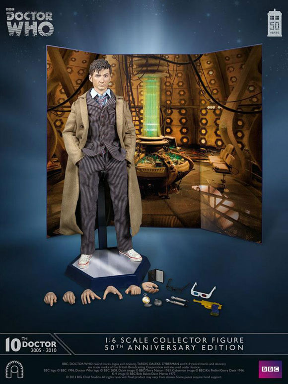 10th Doctor 1//6th Scale Action Figure Series 4 Doctor Who