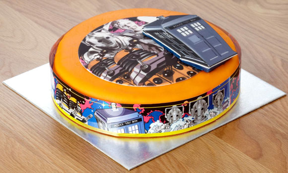 Fine Doctor Who Sponge Celebration Cake Merchandise Guide The Funny Birthday Cards Online Inifofree Goldxyz