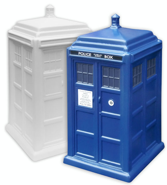 Paint your own pottery doctor who tardis merchandise guide the doctor who site - Tardis piggy bank ...