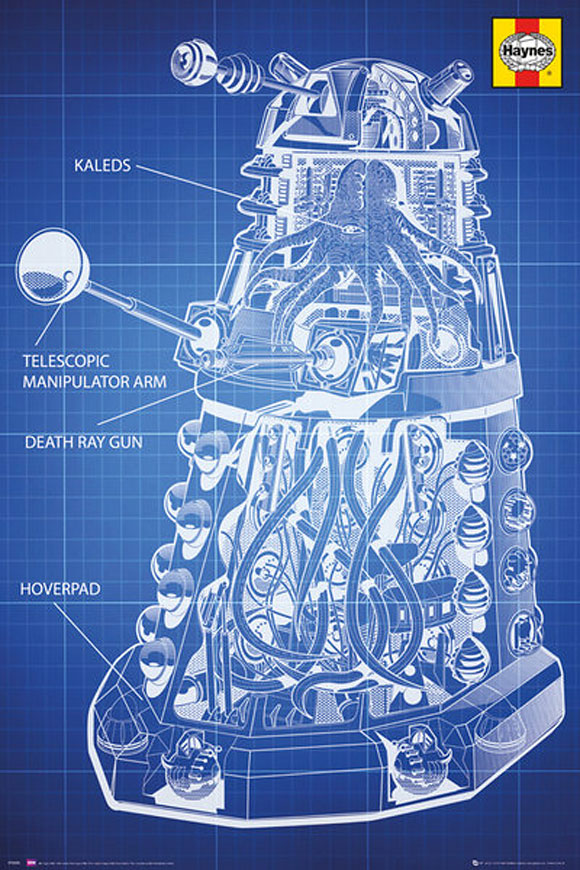 Doctor who haynes dalek blueprint poster merchandise guide the dalek poster haynes malvernweather Images