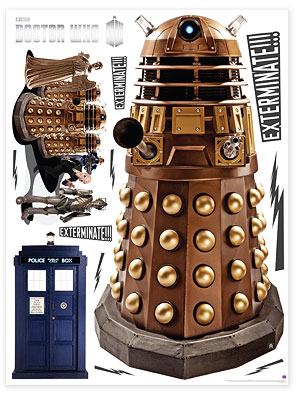 Large Dalek Augmented Reality Wall Sticker Part 50