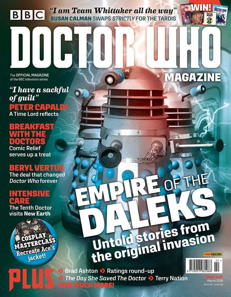 Doctor Who magzine 2018 Dwm522