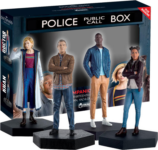 DOCTOR WHO FIGURINE COLLECTION FIRST DR COMPANION SET IAN BARBARA EAGLEMOSS