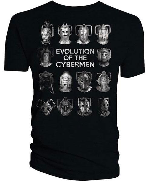 Evolution Of The Cybermen Doctor Who T-Shirt Evo...