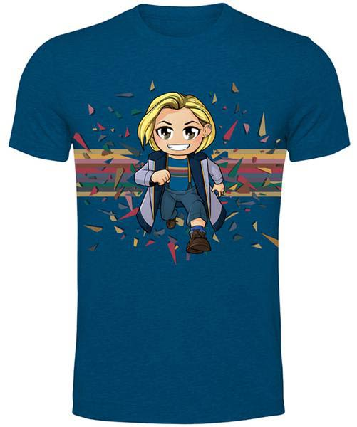 Doctor Who T Shirt 13th Doctor Kawaii Rainbow