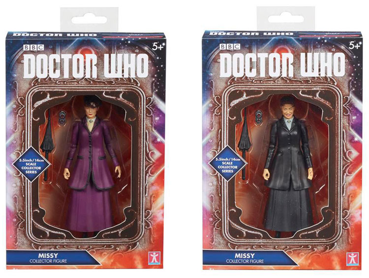 """Dr Who Missy Master Black Outfit Umbrella Version Collectors Series 5"""" Figure"""