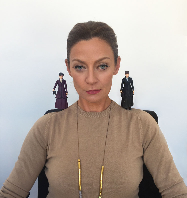 Michelle Gomez With Her Limited Edition Figures