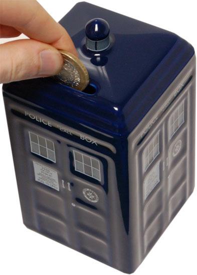 Life doctor who combom doctor who merchandise tardis money box - Tardis piggy bank ...