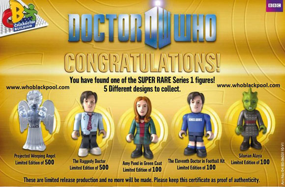 Doctor Who Character Building Series  Rare