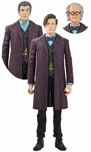 90f3bdc8b4 Presented here is the Eleventh Doctor in his iconic final season long frock  coat. The set comes with a Twelfth Doctor regenerated head plus young and   aged  ...