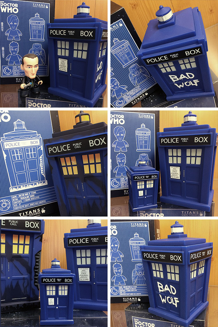 Bad Wolf and Trenzalore TARDISes