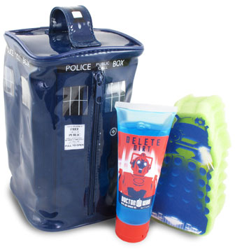 Doctor Who Tardis Bathroom Gift Set – Merchandise Guide - The Doctor on doctor who tooth burshes, doctor who cyber controller, doctor who bathroom decor, doctor who stationery, doctor who clock, doctor who bathroom ideas, doctor who place mates, doctor who candle holder, doctor who pen holder, doctor who vs daleks, doctor who home decor, doctor who table lamp, doctor who quilt, doctor who furniture, doctor who puzzle, doctor who charger, doctor who themed bathroom, doctor who basket, doctor who umbrella, doctor who jewelry,