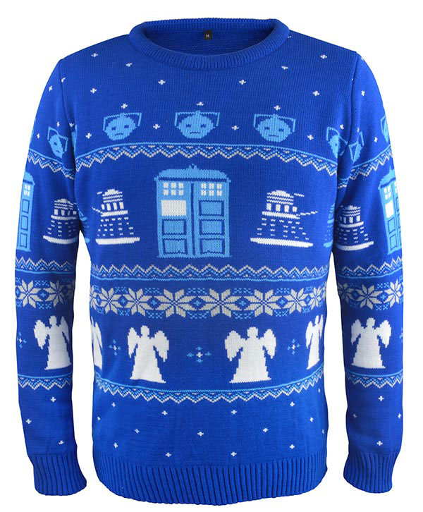 Dr Who Christmas Sweater.Doctor Who Christmas Jumper Bbc Shop Exclusive Merchandise