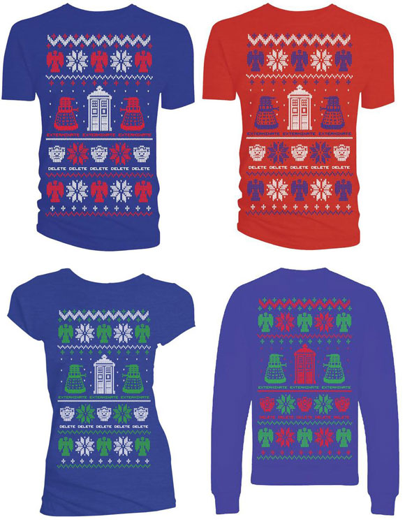 Doctor Who T Shirt Christmas Sweaters Selection Merchandise Guide